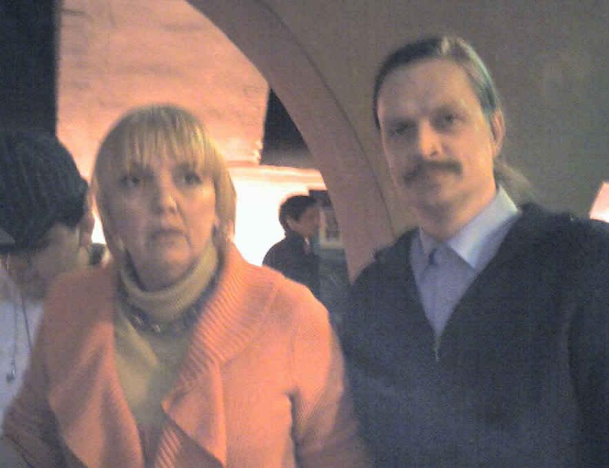 Mit Claudia Roth im Hamburger Wahlkampf Februar 2008